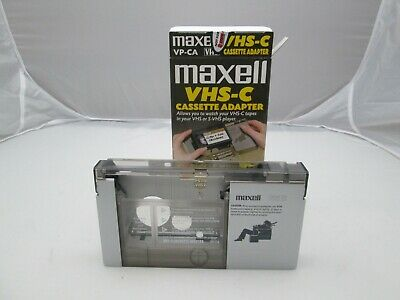 Maxell VHS-C Cassette Adapter VP-CA VHS Video Tape Player Converter Excellent