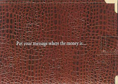 Telstra  Wallet Put Your Message Where The Money Is Rare In This Condition