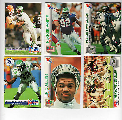 0b607d6aea2 1992 PS Philadelphia Eagles Set REGGIE WHITE JEROME BROWN RANDALL CUNNINGHAM