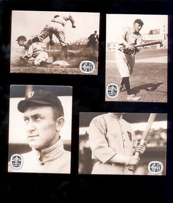 1986 Conlon TY COBB Georgia Peach Detroit Tigers Hall of Fame 4-Card Set