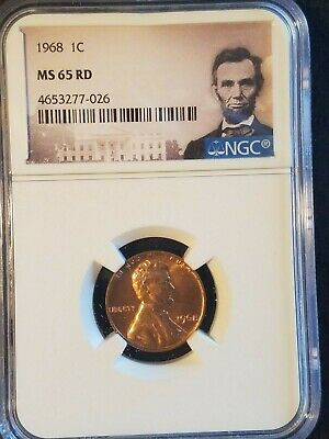 1968 Lincoln 1c, NGC Certified MS 65 RD
