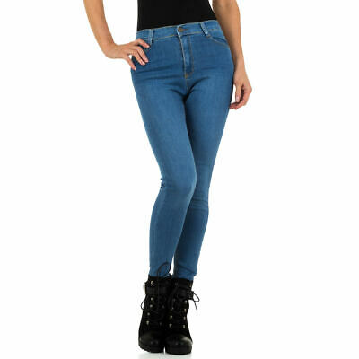 HIGH WAIST SKINNY DAMEN JEANS 42/XL Blau 1152