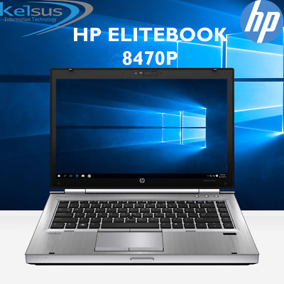 "HP EliteBook 8470p 14"" inch Laptop Core i7 2.90GHz 4GB RAM 320GB HDD Windows 10"