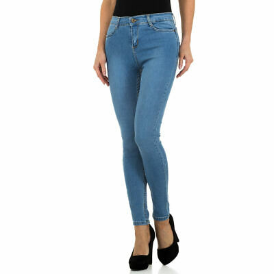 HIGH WAIST SKINNY DAMEN JEANS 42/XL Blau 5678