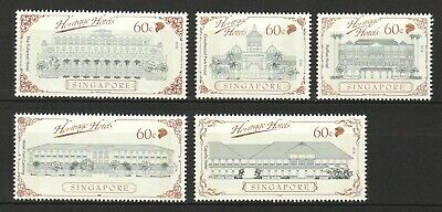 Singapore 2019 Heritage Hotels Comp. Set Of 5 Stamps Mint Mnh Unused Condition