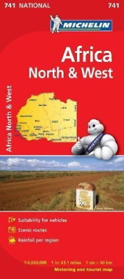 Africa North & West - Michelin National Map 741 NEW