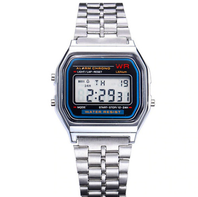 CASIO A158W-1 Unisex Classic Silver Digital F91W Sport Watch WR 30M NEW