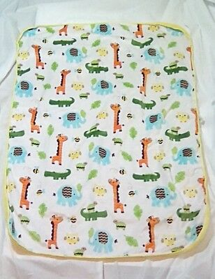 Circo-Zoo Animal's Multi Color Baby Security Blanket-Size 28Wx38L