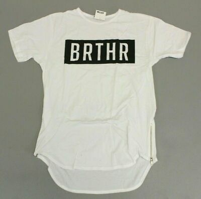 cfe99f82 Men's Brthr Short Sleeve Long Bodied Tee T-Shirt AN3 White Small NWT