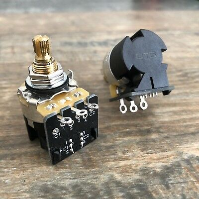 NEW CTS Full Size 250k Audio Taper Pot w/ DPDT Push/Pull By MOJOTONE (MO13015)