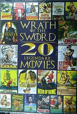 WRATH of the SWORD 20 MOVIES TARZAN SAMSON HERCULES GLADIATORS VIKINGS SEALED
