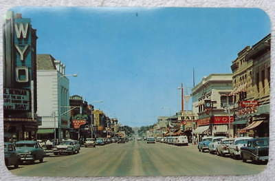 Postcard Business District Sheridan Wyoming #2M