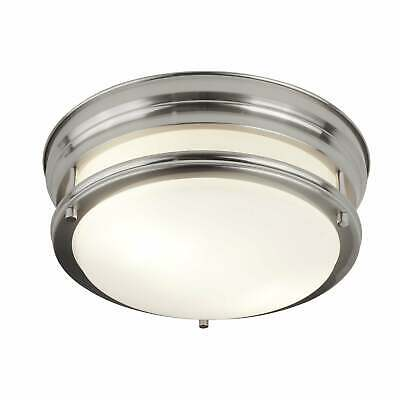 Searchlight Edinburgh Flush Ceiling Light In Satin Silver Finish Ip44 6142-2Ss