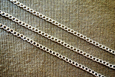 2 Metres Silver Coloured Plated 2mm Curb Chain #3788 Jewellery Making Findings