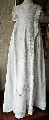 Antique Baby Christening Dress/heavily Embroidered