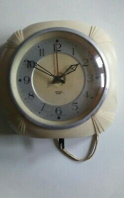 collectable Vintage Smiths 'sectric' clock.Bakelite? Very nice 17 x17 cm wall