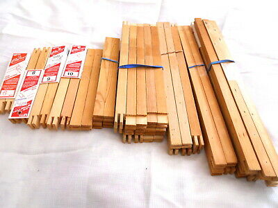 Lot of 27 Pairs Assorted Wood Stretcher Frame Bars 4-22