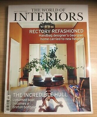 The World Of Interiors Magazine Issue April 2019  ~ New ~