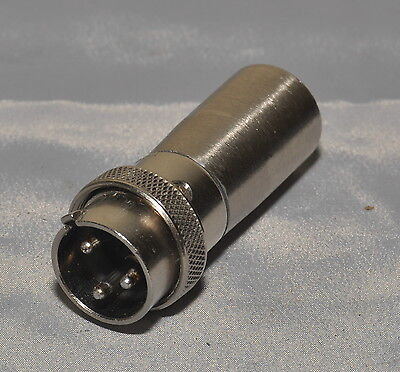 Shure 3-Pin 91-MC3M Connector to XLR Microphone Adapter-Converter
