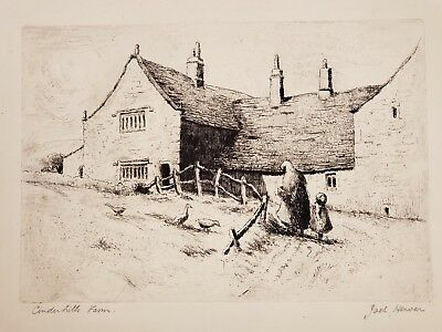 Jack Hewer, Original etching, signed, limited 1924 Bronte Yorkshire England