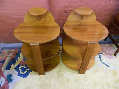 Fine Quality Art Deco Solid Walnut Side Tables Table C 1930