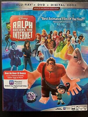 Ralph Breaks the Internet.(Blu-Ray/DVD) PERFECT CONDITION! Free Shipping!