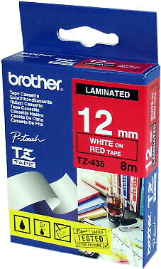 Brother TZE435 TZ TZe435 Labels Laminated P-touch Labelling Tape - 12mm - 8m -