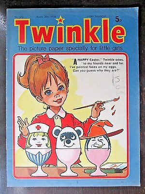 TWINKLE.  NO.375   MARCH 29th.  1975. EASTER ISSUE!  DRESS TWINKLE PAGE!