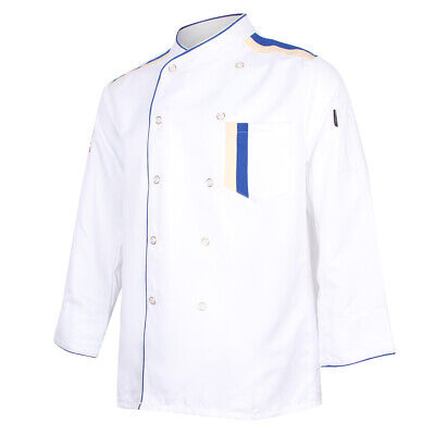 Restaurant Hotel Unisex Chef Long Sleeve Coat Jacket Uniform Cook Waiter XL