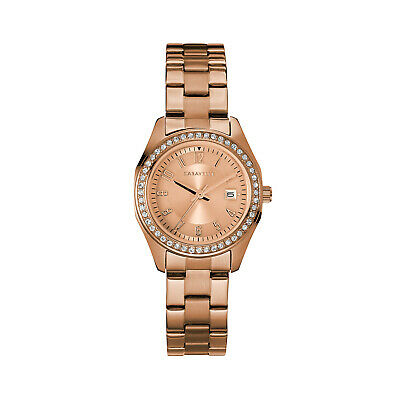 Caravelle New York Women's Quartz  Rose Gold-Tone Band Watch 44M114