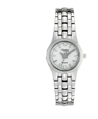 Caravelle New York Women's Quartz  Silver-Tone Band Watch 43P106