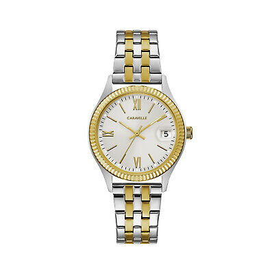 Caravelle New York Women's Quartz  Two-Tone Band Watch 45M112