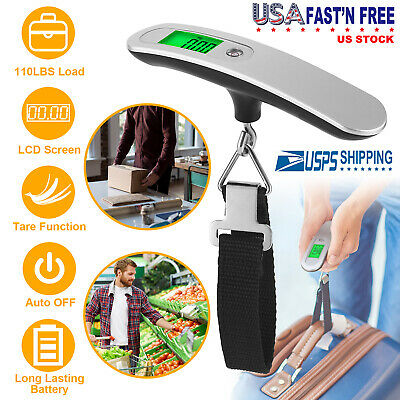 Portable Travel Luggage Scale LCD Digital Hanging Electronic Weight 110lb/50kg