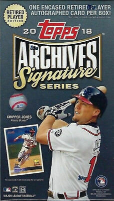 2018 Topps Archives Baseball Signature Series Retired Players Sealed Hobby Box