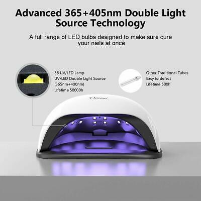 Nail Lamp,Ovonni 54W UV LED Nail Dryer Fast Curing Lamp,60S/99S Timer and for