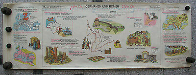 Wall Picture Geschichtsfries Germanic Rummer 139x50 Vintage History Chart 1965