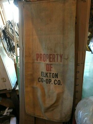 """Double Sided Canvas SEED grain  BAG  ORIGINAL """"Chase A """" + Elkton Co-Op"""