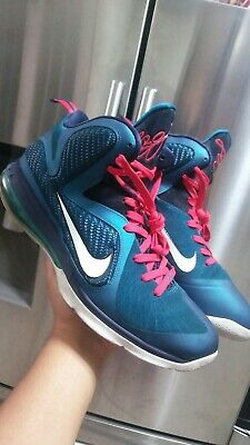"e85ffb13c06 NIKE LEBRON 9 ""Summit Lake"" Size 13 PURPLE TURQUOISE HORNET WHITE ..."