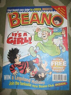 Beano No.2931 19 – 9 – 98 includes original free gift
