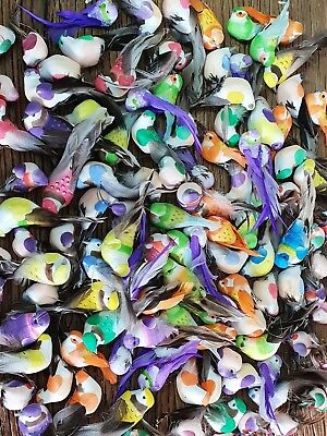 100+ Artificial Feather Clip Birds Party Prop Hair Flower Cake Craft Decoration