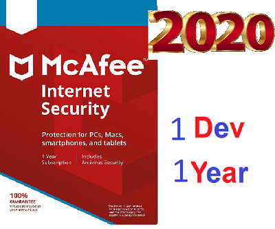 McAfee AntiVirus Plus 2019 -1 Years - Pc - Unlimited devices - Key Activation