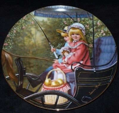 1984 Collectible Plate The Surrey Ride from the Days Gone By Collection by artist Sandra Kuck With Certificate of Authenticity.