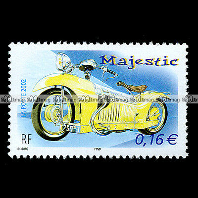 ★ MAJESTIC 1929 George ROY Moteur CHAISE ★ FRANCE Timbre Moto Stempel #10