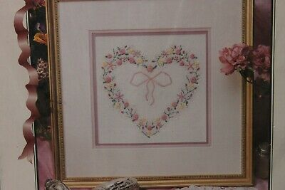 VICTORIAN HEART ribbon embroidery kit TRUE COLORS   NIP