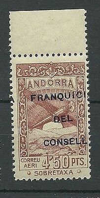 Andorra Edifil ne 35 Surcharge Scrolled