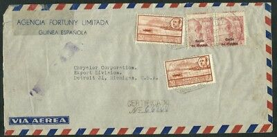 Letter to Michigan USA with Seals of Guinea Reverse Arrival