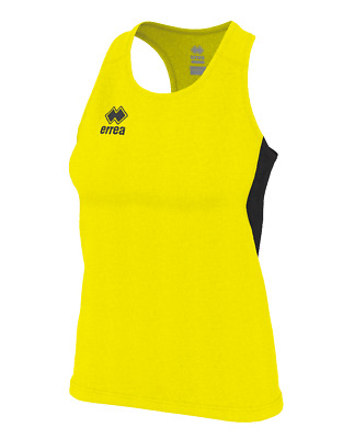 Camiseta de Triantes Running Mujer Smith Camiseta Ad - Amarillo Fluo Negro