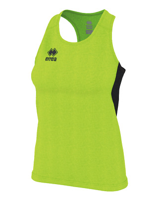 Camiseta de Triantes Running Mujer Smith Camiseta Ad - Verde Fluorescente Negro