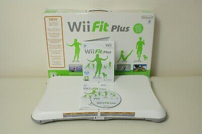 Boxed Official White Nintendo Wii Fit Balance Board & Wii Fit Plus Game FREE P+P