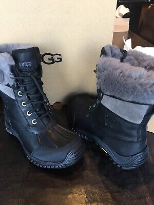 716676eec1f UGG ADIRONDACK II BOOTS BLACK / Grey 1906 Women's Shoes new with box size 6